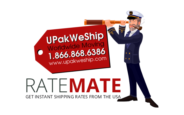 UPakWeShip Rate Mate - International Shipping Rates