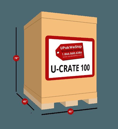 U-CRATE 100 Dimensions