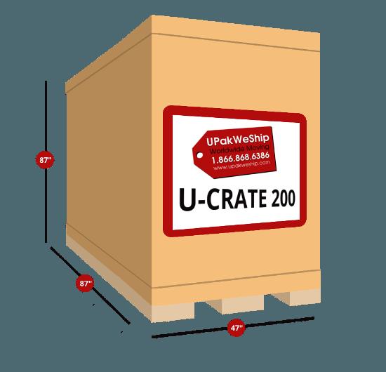 U-CRATE 200 Dimensions