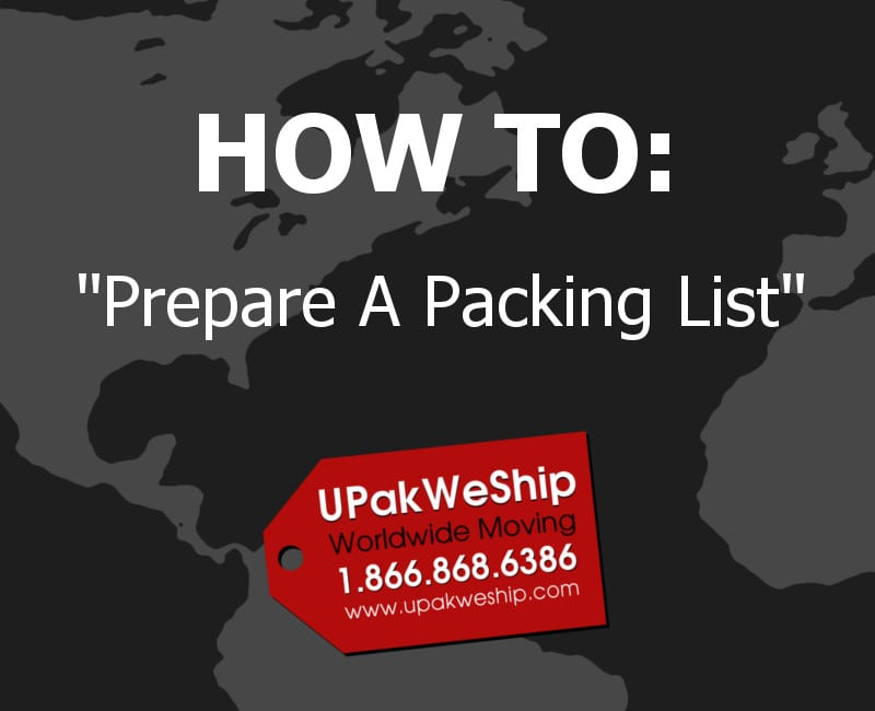 How To Prepare A Packing List