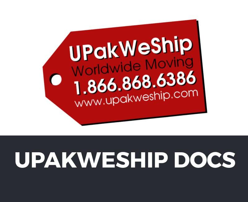 UPakWeShip Documents