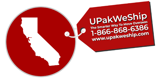 International Shipping From California With UPakWeShip